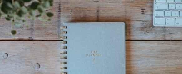 Erin Condren Life Planner on a table